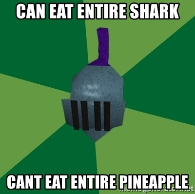 Runescape Advice - Can eat entire shark cant eat entire pineapple