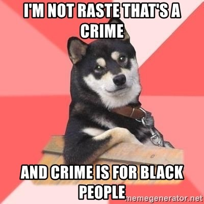 Cool Dog - I'M NOT RASTE THAT'S A CRIME AND CRIME IS FOR BLACK PEOPLE