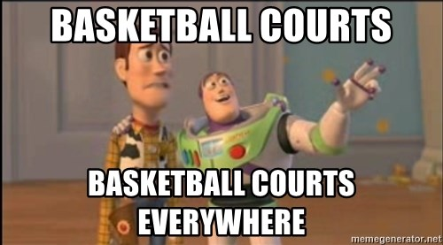 X, X Everywhere  - Basketball courts basketball courts everywhere
