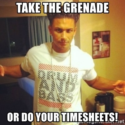 Drum And Bass Guy - Take the grenade or do your timesheets!