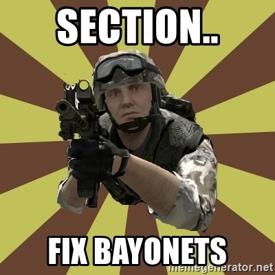 Arma 2 soldier - SECTION.. FIX BAYONETS