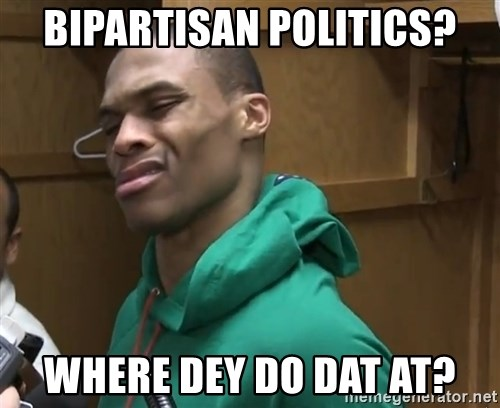 Russell Westbrook - bipartisan politics? where dey do dat at?