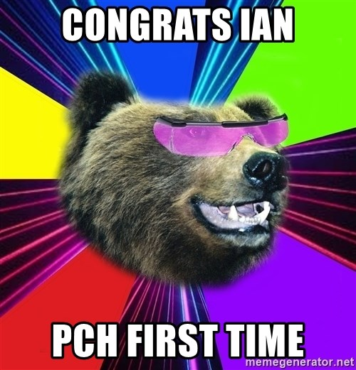 Party Bear - Congrats Ian PCH first time