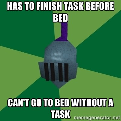 Runescape Advice - Has to finish task before bed can't go to bed without a task
