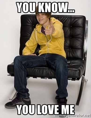 Justin Bieber Pointing - you know... you love me