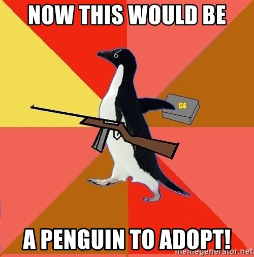 Socially Fed Up Penguin - Now This would be A penguin to adopt!
