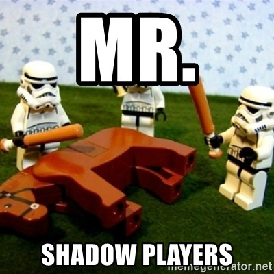 Beating a Dead Horse stormtrooper - MR.  SHADOW PLAYERS