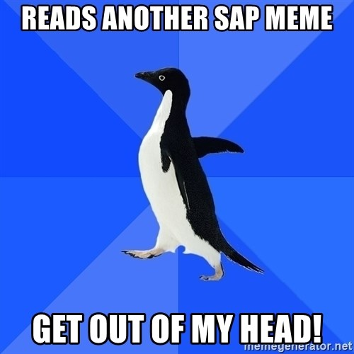 Socially Awkward Penguin - Reads another sap meme get out of my head!