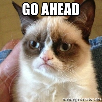 Grumpy Cat  - Go AHEAD