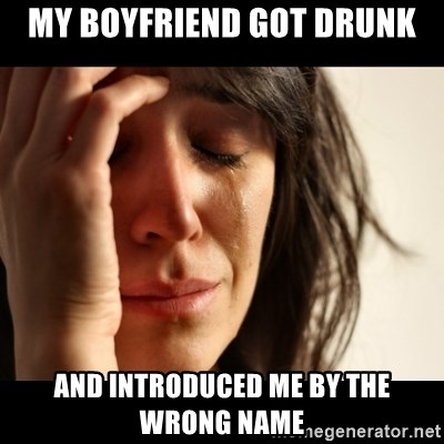 crying girl sad - my boyfriend got drunk and introduced me by the wrong name