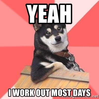 Cool Dog - YEAH I WORK OUT MOST DAYS