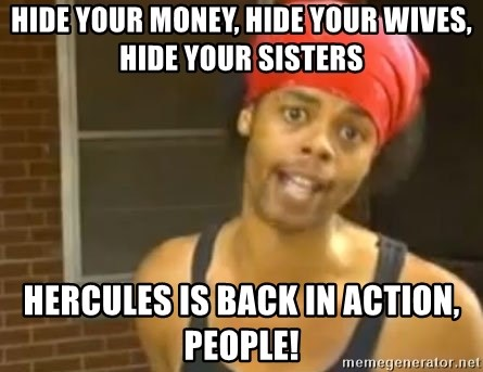 Antoine Dodson - Hide your money, hide your wives, hide your sisters hercules is back in action, people!