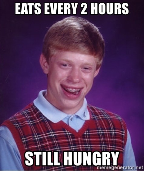 Bad Luck Brian - eats every 2 hours still hungry