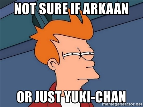 Futurama Fry - NOT SURE IF ARKAAN OR JUST YUKI-CHAN