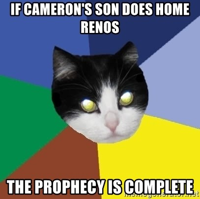 Winnipeg Cat - if cameron's son does home renos the prophecy is complete