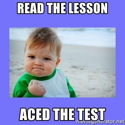 Baby fist - read the lesson aced the test