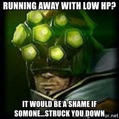 Master Yi - Running away with low hp? It would be a shame if somone...struck you down