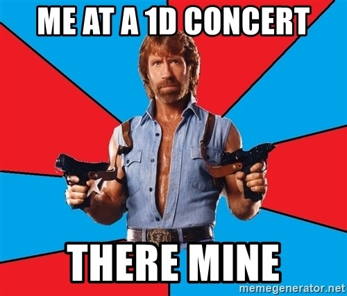 Chuck Norris  - ME AT A 1D CONCERT THERE MINE