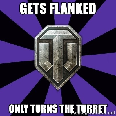 World of Tanks - gets flanked only turns the turret