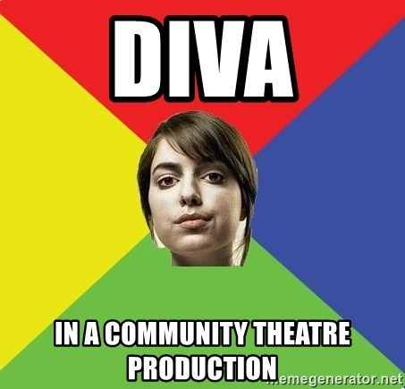 Non Jealous Girl - Diva In a community theatre production