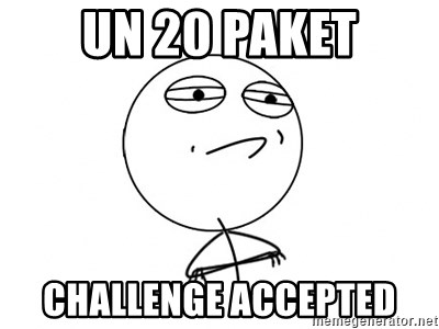 Challenge Accepted HD - UN 20 PAKET CHALLENGE ACCEPTED