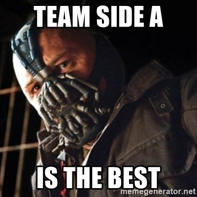 Only then you have my permission to die - team side a  is the best