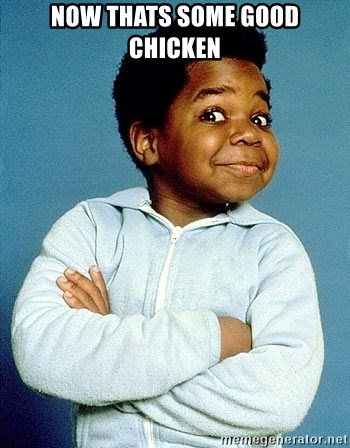 Gary Coleman - now thats some good chicken