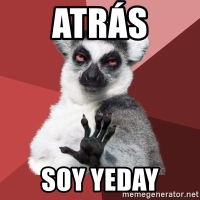 Chill Out Lemur - ATRÁS SOY YEDAY