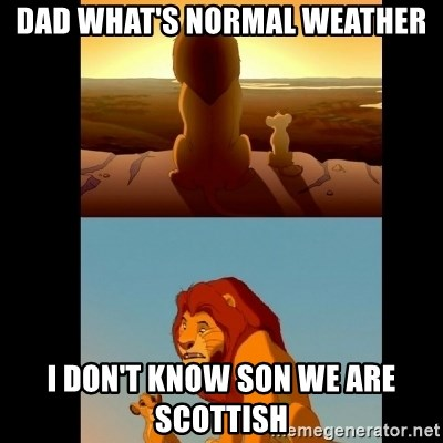 Lion King Shadowy Place - DAD WHAT'S NORMAL WEATHER I DON'T KNOW SON WE ARE SCOTTISH