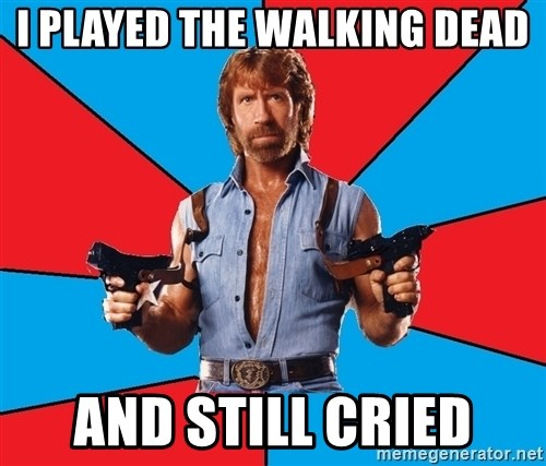 Chuck Norris  - i played the walking dead and still cried