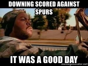 It was a good day - Downing scored against spurs it was a good day