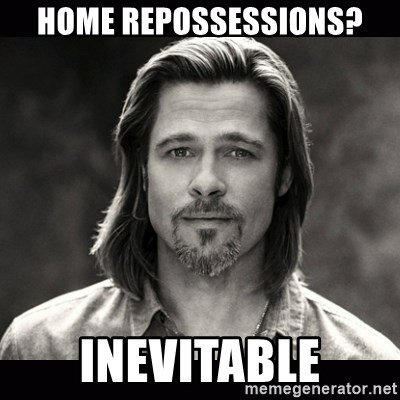Brad Pitt Chanel - HOME REPOSSESSIONS? INEVITABLE