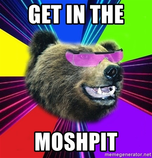Party Bear - GET IN THE  MOSHPIT