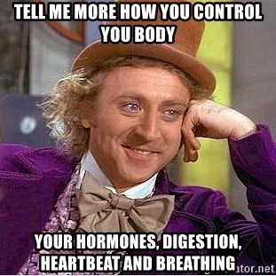 Willy Wonka - Tell me more how you control you body your hormones, digestion, heartbeat and breathing