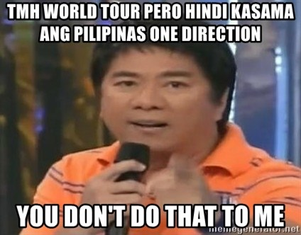 willie revillame you dont do that to me - tmh world tour pero hindi kasama ang pilipinas one direction you don't do that to me