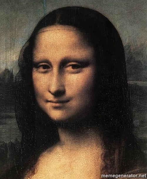 the mona lisa  -