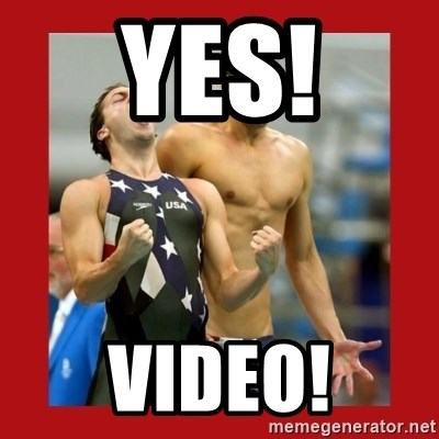 Ecstatic Michael Phelps - Yes! VIDEO!