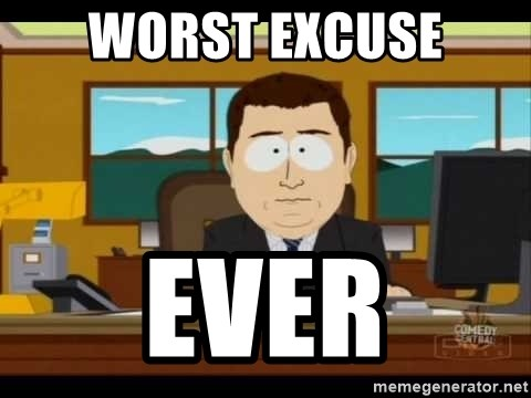 south park aand it's gone - WORST EXCUSE EVER