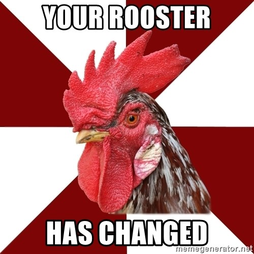 Roleplaying Rooster - Your rooster has changed