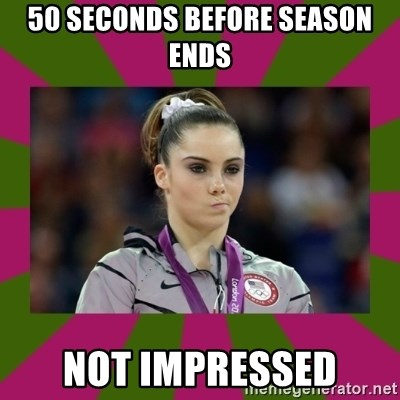 Kayla Maroney - 50 seconds before season ends not impressed