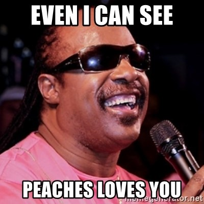 stevie wonder - EVEN I CAN SEE PEACHES LOVES YOU