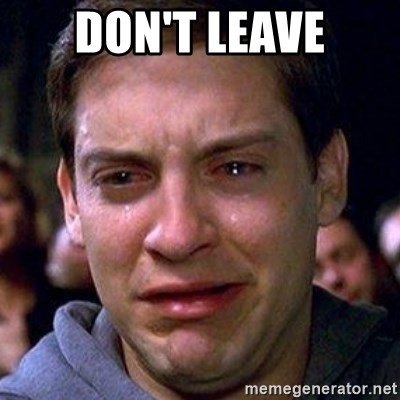 spiderman cry - don't leave