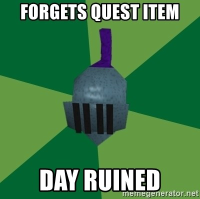 Runescape Advice - Forgets quest item Day ruined