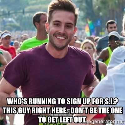 Incredibly photogenic guy -  who's running to sign up for s.i.? this guy right here.  don't be the one to get left out.