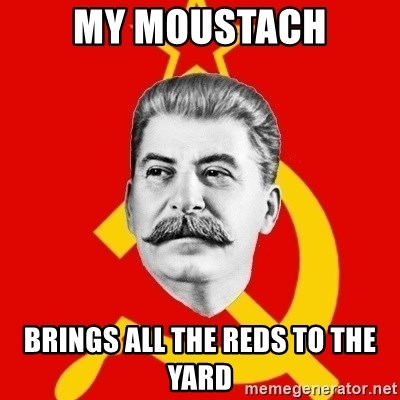 Stalin Says - My Moustach brings all the reds to the yard