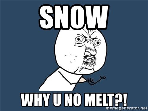 Y U No - Snow why u no melt?!