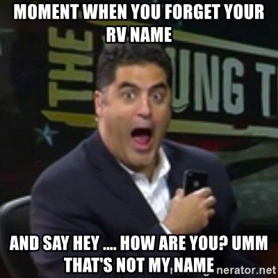 Surprised Cenk - MOMENT WHEN YOU FORGET YOUR RV NAME AND SAY HEY .... HOW ARE YOU? UMM THAT'S NOT MY NAME