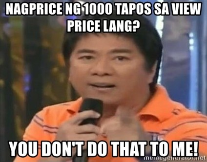 willie revillame you dont do that to me - NAGPRICE NG 1000 TAPOS SA VIEW PRICE LANG? YOU DON'T DO THAT TO ME!