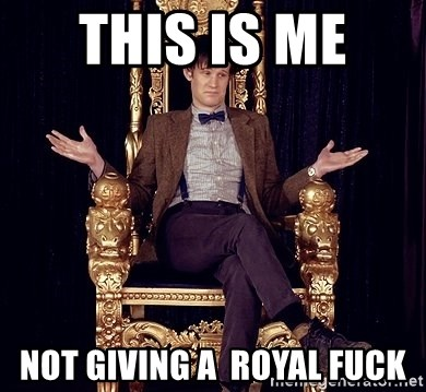 Hipster Doctor Who - this is me  not giving a  royal fuck