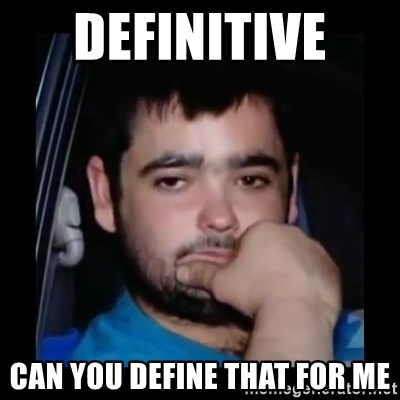 just waiting for a mate - definitive  can you define that for me
